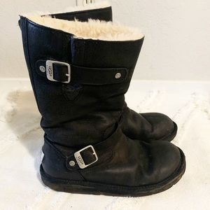 UGG Australia leather sherpa lined boots